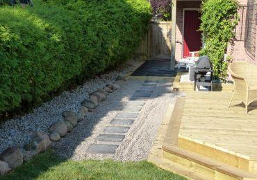 backyard deck walkway