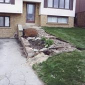 Front Yard Stone Stairway