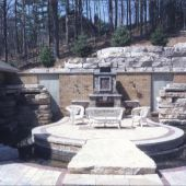 Entertaining Area Pond Courtyard