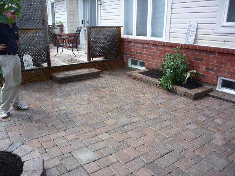Deck to Back Patio