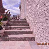 Backyard Brick Stairs